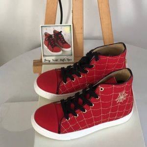 Rare NEW Charlotte Olympia Incy Web High Tops Red